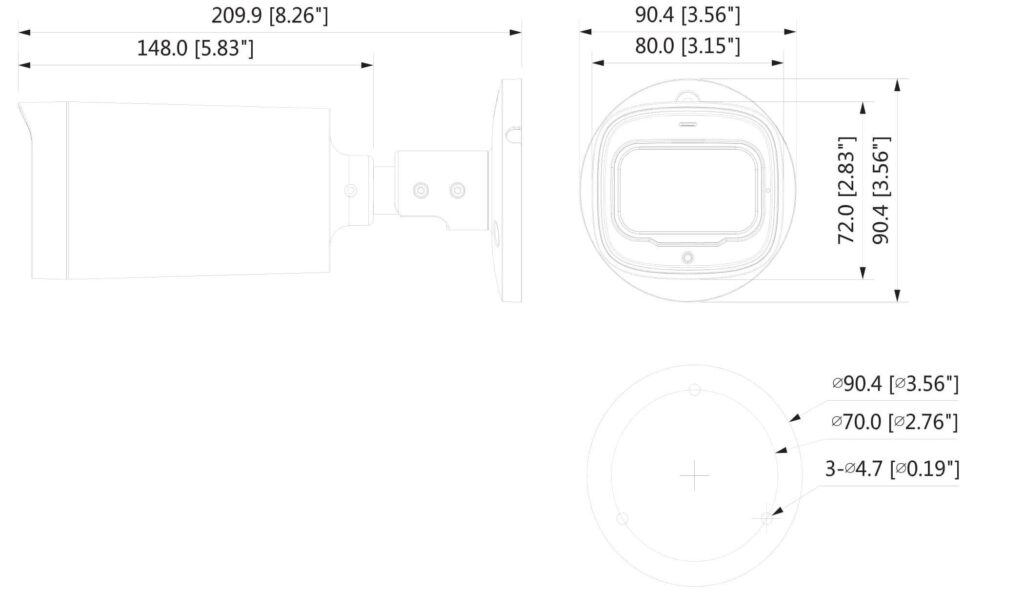 شماتیک کلی دوربین مداربسته DH-HAC-HFW1500R-Z-IRE6-A داهوا
