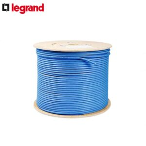 کابل شبکه لگرند Cat6 SFTP فویلدار و شیلد دار روکش PVC حلقه 500 متری تمام مس