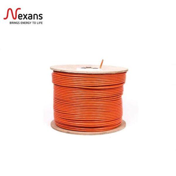 کابل شبکه نگزنس Cat6 SFTP فویلدار و شیلد دار روکش PVC حلقه 500 متری تمام مس
