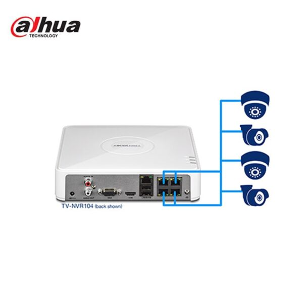 دستگاه 4 کانال تحت شبکه داهوا مدل DH-NVR104-P